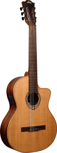 LAG OC170CE Occitania OC170 Classical cutaway electroacoustic, New, Free Shipping