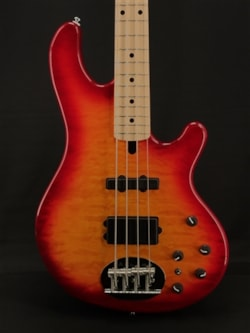 Lakland Skyline 44-02 Deluxe in Cherry Sunburst with Maple Fretboard