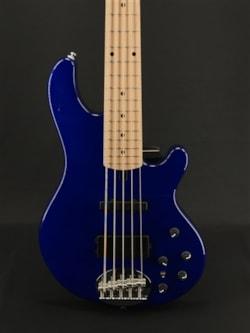 Lakland Skyline 55-02 Deluxe in Transparent Blue with Maple Fretboard