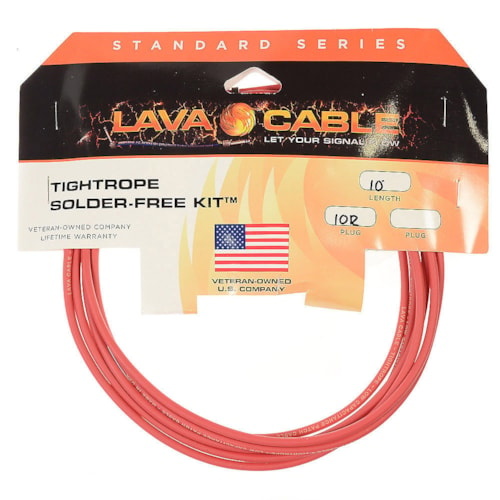 Lava Tightrope Solder-Free Pedal Board Kit 10' Red