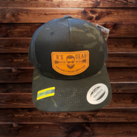 Leather Patch Hat Multi Cam