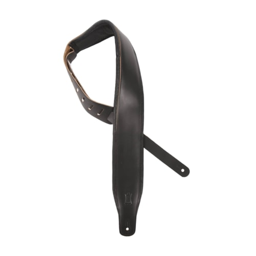 """Levy's 3"""" Wide Top Grain Leather Guitar Strap"""