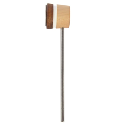 Low Boy Lightweight Leather Bass Drum Beater Light Brown/Natural w/White Stripes