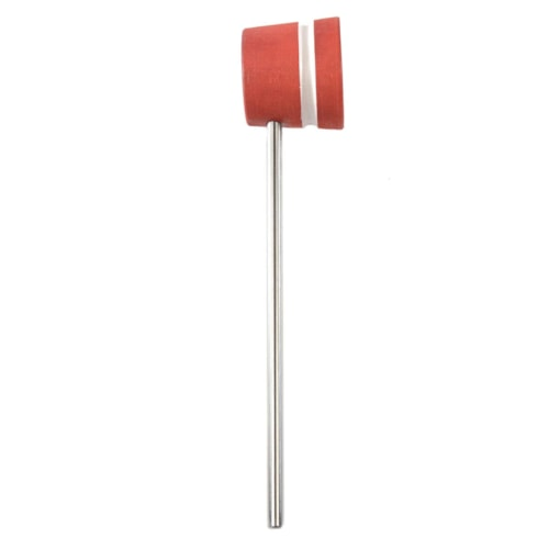 Low Boy Lightweight Wood Bass Drum Beater Red w/White Stripes