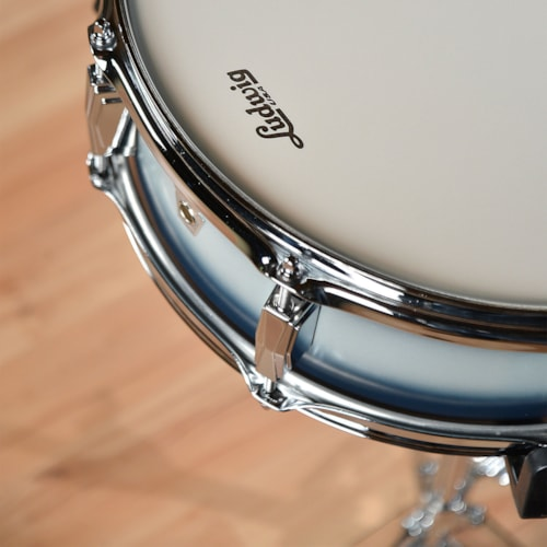 Ludwig 5x14 Club Date Vintage Snare Drum Blue/Silver Duco