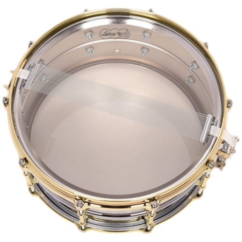 Ludwig 6.5x14 Chrome Over Brass Snare Drum w/Tube Lugs & Brass Hdw
