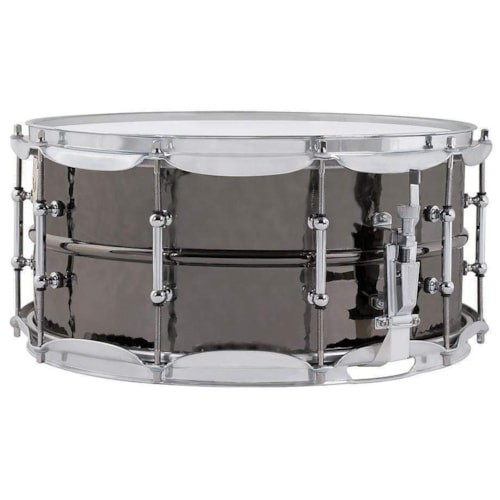Ludwig 6.5x14 Hammered Black Beauty Snare Drum w/Tube Lugs