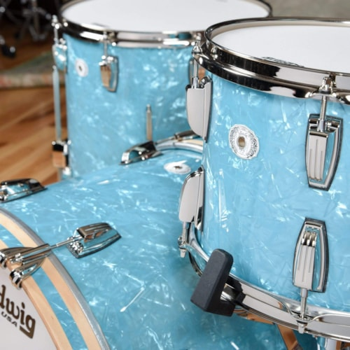 Ludwig Classic Maple 13/16/22 3pc. Drum Kit Glacier Blue Pearl w/Nickel Hardware Limited Edition