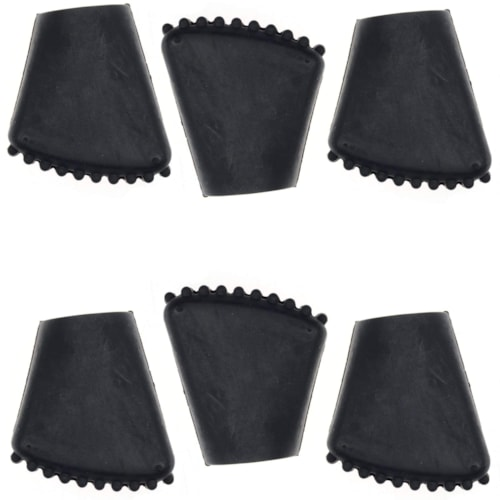 Ludwig Rubber Crutch Tip for P669 For Bass Drum Spur (6 Pack Bundle)