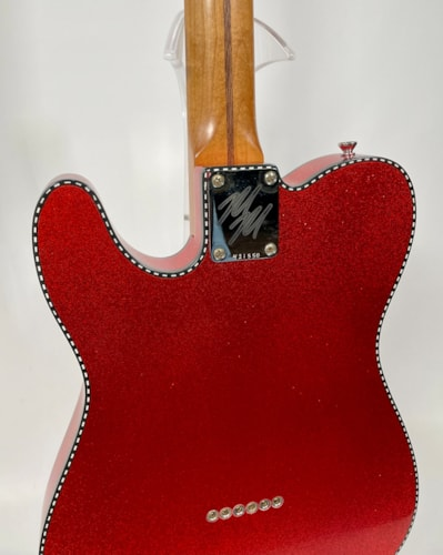 Mario Martin T-Style Custom Candy Red, Flake Double Checkerboard Binding, NEW (Authorized Dealer)
