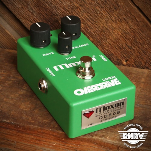 Maxon 40th Anniversary OD808 Overdrive Green Limited Run of 800 Pedals