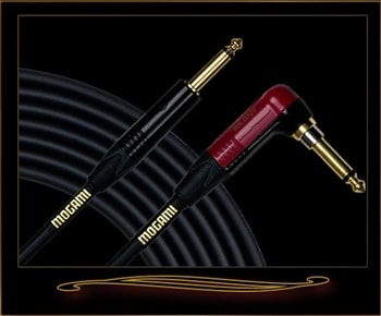 Mogami Gold Instrument Silent R-25 25' Guitar Cable with Right Angle Plug