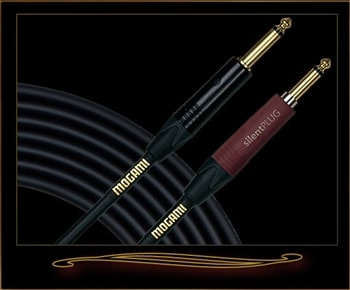 Mogami Mogami Gold Instrument Silent S-18 18' Guitar Cable with Straight Plugs