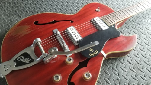 MOJO SWEET RELIC VINTAGE 1962 GUILD STARFIRE III CHERRY RED GREAT ORIGINAL SHAPE