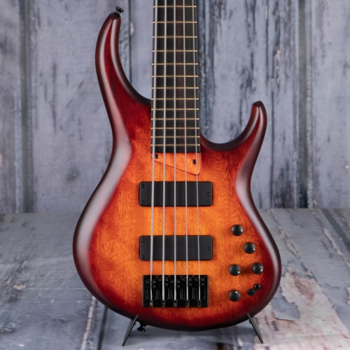 MTD Super 534-24 5-String Bass, Cherry Burst
