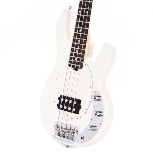 Sterling by Music Man Short Scale StingRay Olympic White