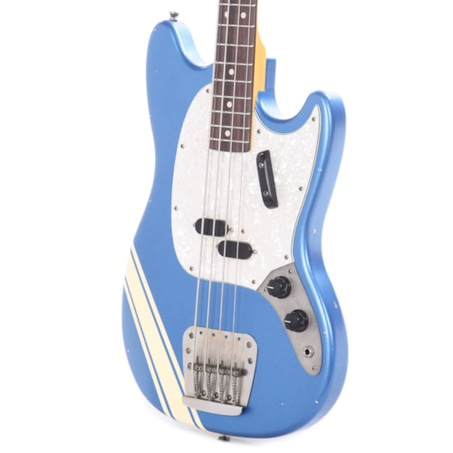 Nash MB-63 Lake Placid Blue Competition Stripe Light Relic w/Matching Headstock, 3-Ply Pearloid Pickguard, & Lollar Pickups