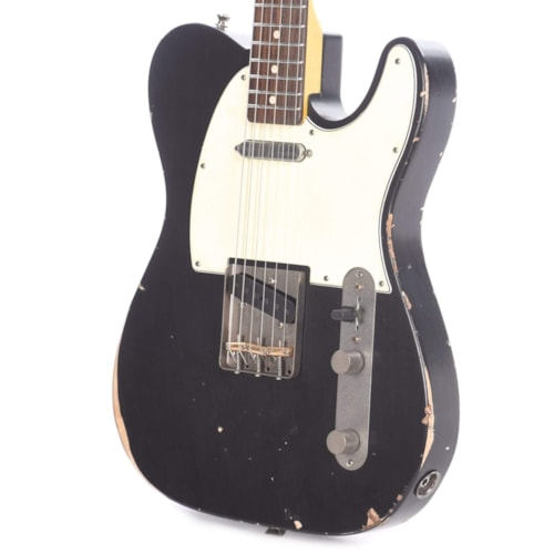 Nash T-63 Ash Black Medium Relic w/3-Ply White Pickguard, & Lollar Pickups