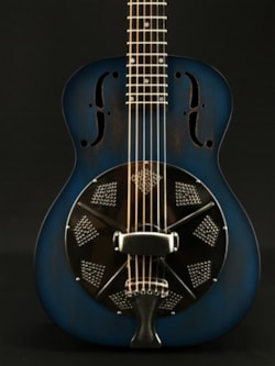 National Reso-Phonic M-14 Thunderbox Roundneck Resonator in Denim