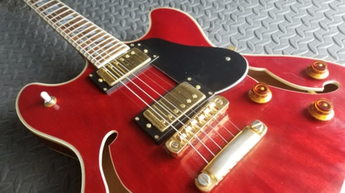 NEAR MINT SWEET 1991 WASHBURN HB35 CHERRY RED KOREA ES-335 GIBSON EXCELLENT NICE