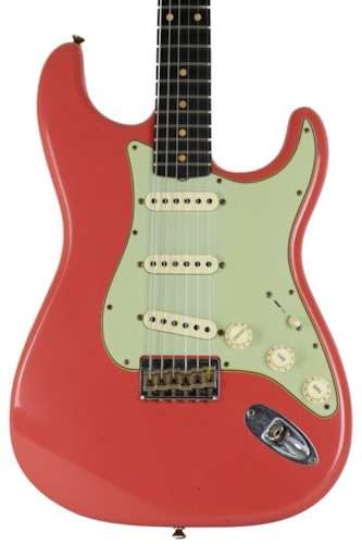 2021 Fender Custom Shop Limited '61 Stratocaster Hard Tail Fiesta Red Faded and Aged