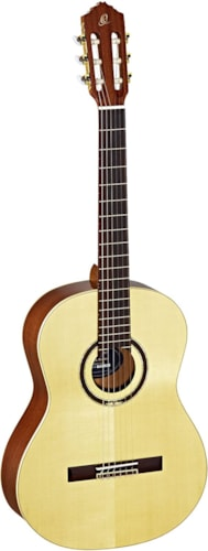 Ortega Guitars Feel Series R138SN, Solid Canadian Spruce Top, Mahogany Back & Sides w/Deluxe Ba g