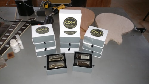 OX4 PAF Style Pickups Nickel Covers, Brand New