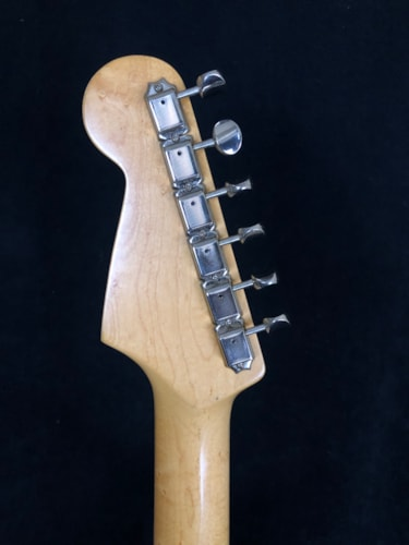 Partsocaster EVH copy white with stripes