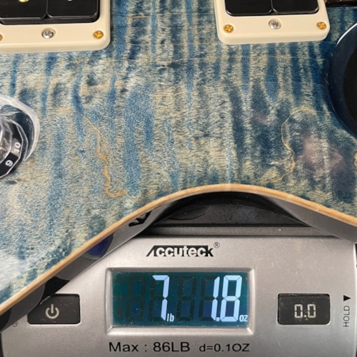 Paul Reed Smith Custom 24 10-Top Pattern Thin Faded Whale Blue (0317866)