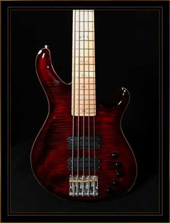 Paul Reed Smith Gary Grainger 5-String in Fire Red Burst with Ten Top