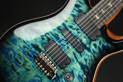 Paul Reed Smith (PRS) Eddie's Guitars Wood Library 509 - River Blue Smokeburst/Figured Mahogany Neck
