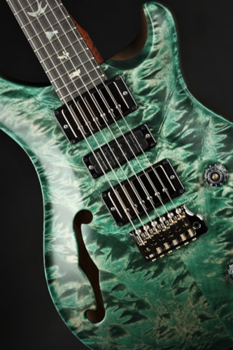 Paul Reed Smith (PRS) Eddie's Guitars Wood Library Special Semi Hollow - Jade Satin/African Black