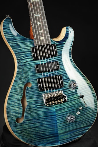Paul Reed Smith (PRS) Eddie's Guitars Wood Library Special Semi Hollow - River Blue/Brazilian Fret