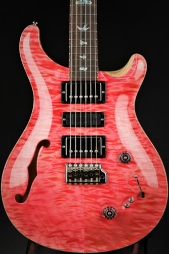 Paul Reed Smith (PRS) Eddie's Guitars Wood Library Special Semi Hollow - Bonnie Pink/Swamp Ash