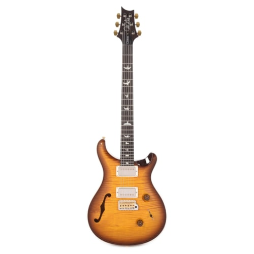 PRS Wood Library Custom 24 Semi-Hollow 10 Top Flame McCarty Tobacco Burst w/Torrefied Maple Neck & Brazilian Rosewood Fingerboard