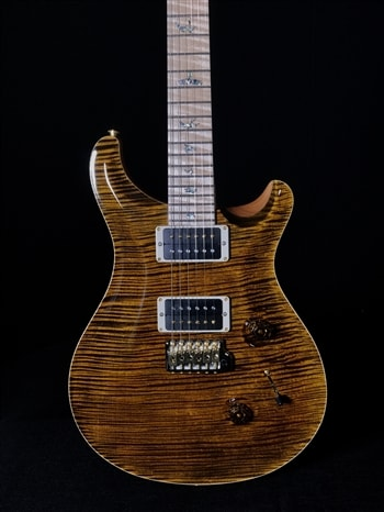 Paul Reed Smith Wood Library Custom 24 in Yellow Tiger with Maple Neck and Fretboard