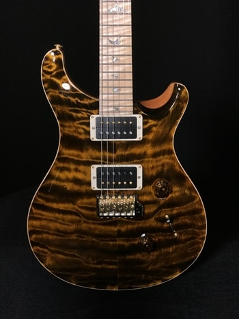 Paul Reed Smith Wood Library Custom 24 Quilt in Yellow Tiger with Maple Neck and Fretboard