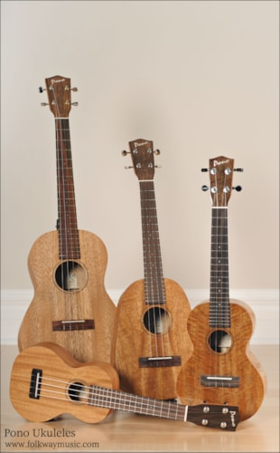 Pono Ukuleles Various Brand New, Call For Price!
