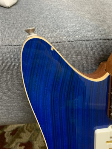 Prisma Guitars Toledo, Blue Stain Skate Top, Mojo UK Gold-Foil for JM Pickups. NEW, *Price Reduced* Read full description. (Authorized Dealer)