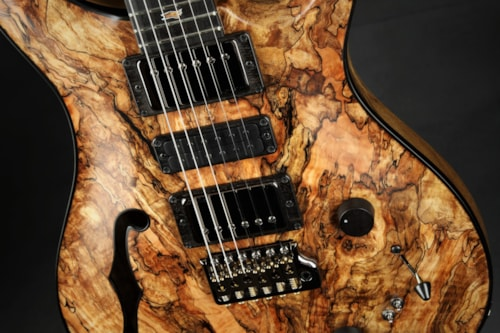 Paul Reed Smith (PRS) Private Stock #8546 Special Semi-Hollow F-Hole Spalted Maple/Black Limba - Nat