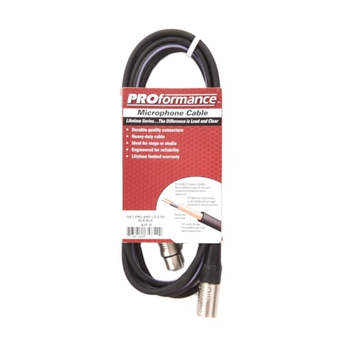 PROformance Microphone Cable 10ft