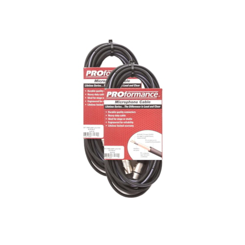 PROformance Microphone Cable 25' 2 Pack Bundle