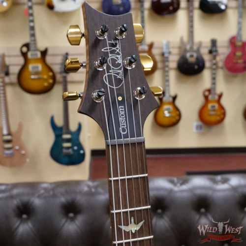 2021 Paul Reed Smith Wood Library 10 Top Custom 24-08 1-Piece Quilt Top Violet Blue Burst
