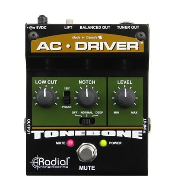 Radial AC-Driver Acoustic Instrument Preamp Pedal