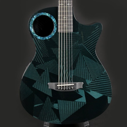 RainSong 25YR Black Ice Visual Blue Hawaii Tint Limited Acoustic Electric Guitar w/ Case (20160)
