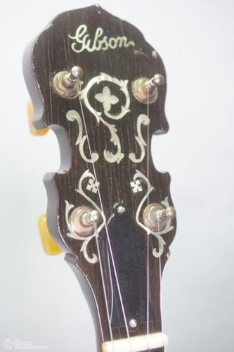 Randy Wood 5 string Banjo 40 hole Archtop Wreath