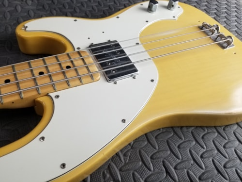 RARE VINTAGE 1973 FENDER TELECASTER BASS FADED OLY WHITE EXCELLENT  LIGHT PLAY BUT SUPER CLEAN ONE