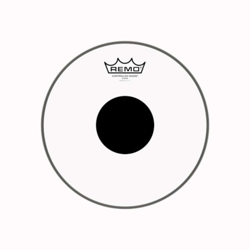 """Remo 10"""" Controlled Sound Clear Drumhead w/Top Black Dot"""