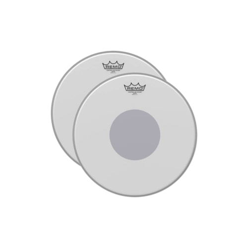 """Remo 12"""" Controlled Sound Coated Drumhead w/Bottom Black Dot (2 Pack Bundle)"""