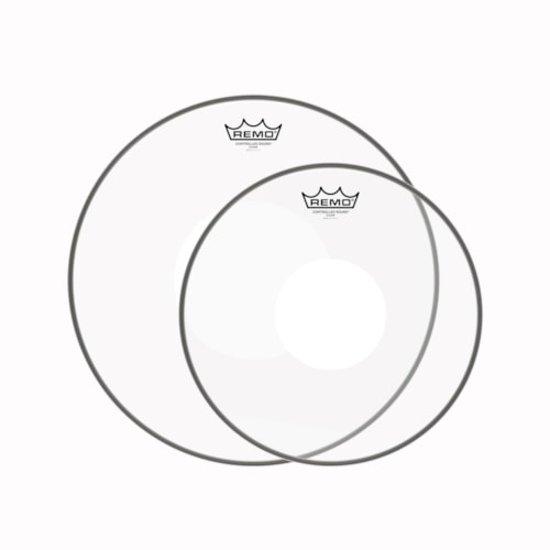 """Remo 13/16"""" Controlled Sound Clear White Dot Drumhead (2 Pack Bundle)"""